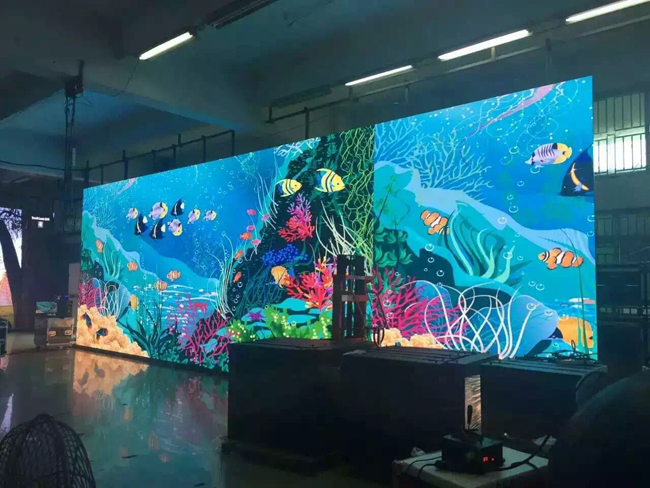 indoor full color led video screen