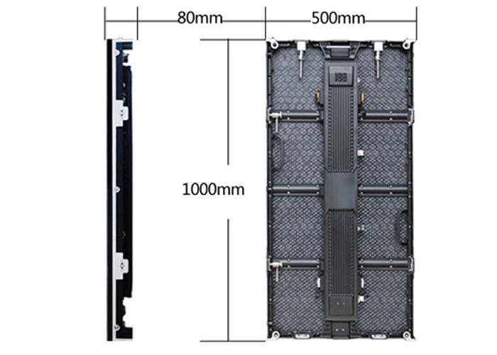 die-casting aluminum led display cabinet for rent