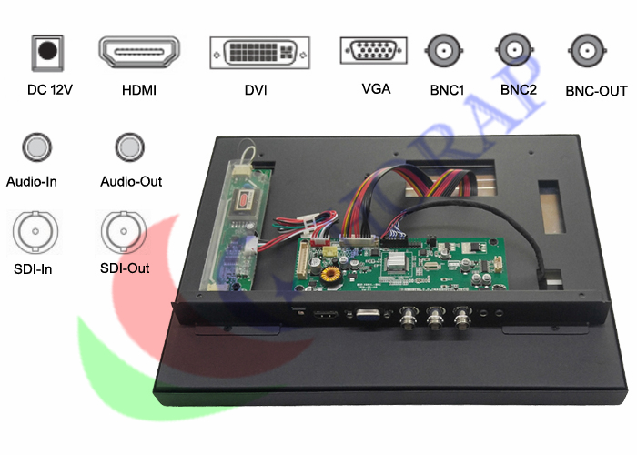 industrial lcd monitor with hdmi and sdi input