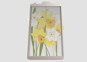 transparent led poster video screen